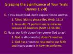 grasping the significance of your trials james 1 2 810