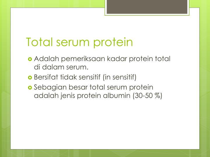 Total serum protein