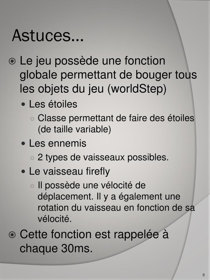Astuces…