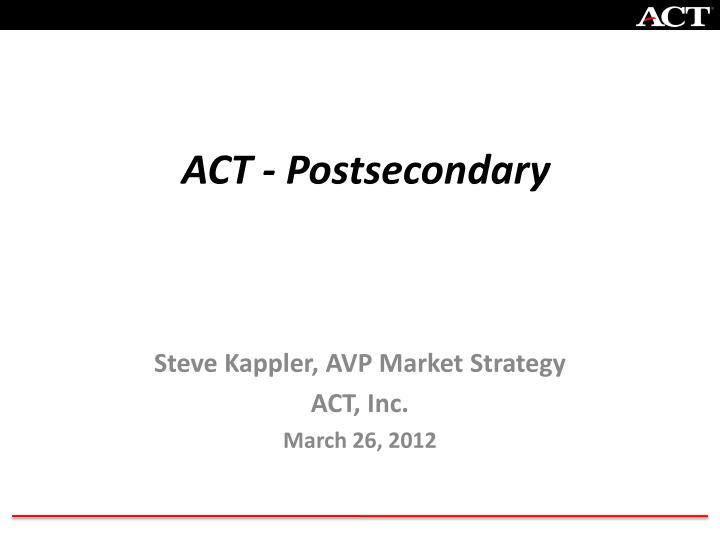 Act postsecondary