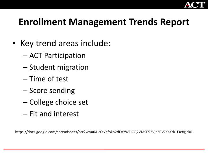 Enrollment Management Trends Report