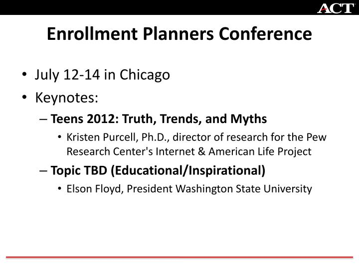 Enrollment Planners Conference
