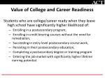 value of college and career readiness
