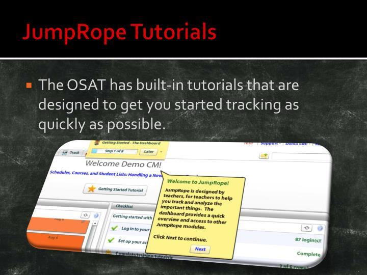 JumpRope Tutorials