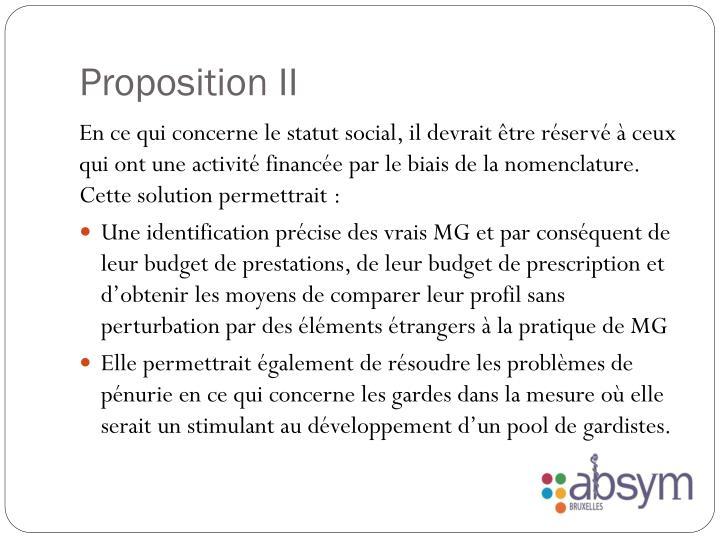 Proposition II