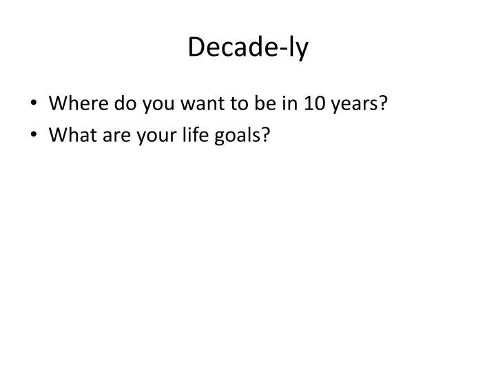 Decade-