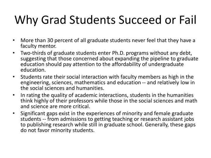 Why Grad Students Succeed or