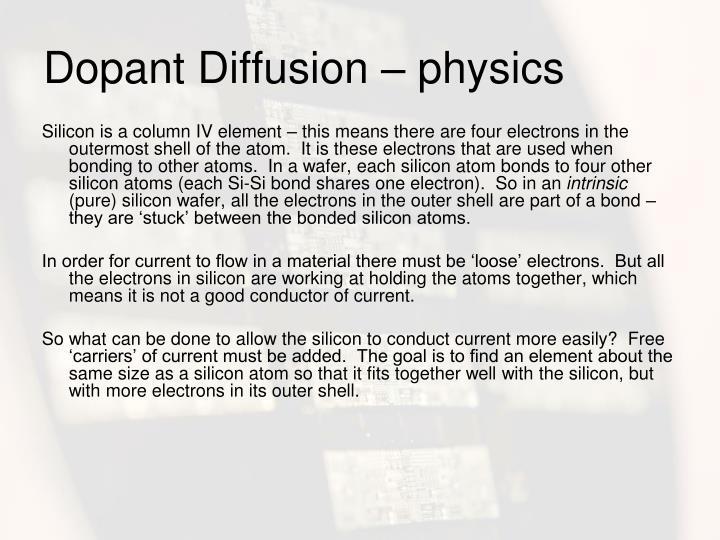 Dopant Diffusion – physics