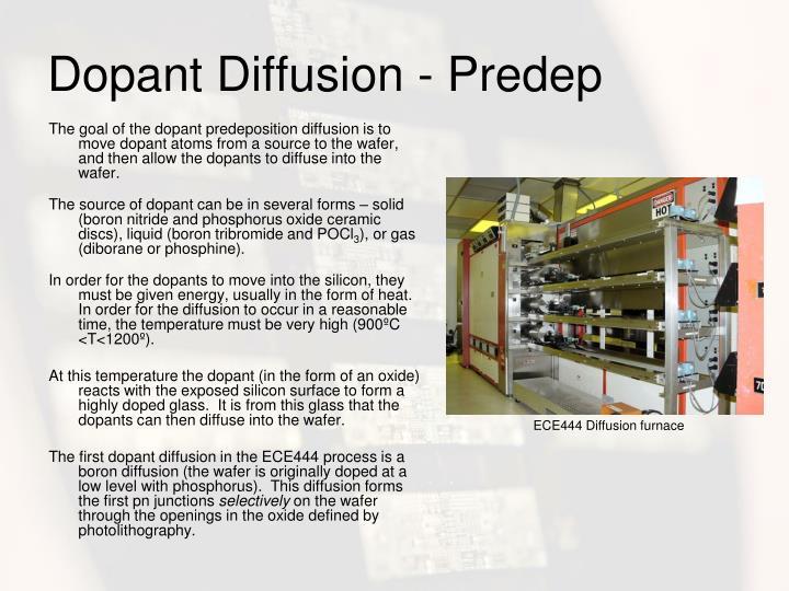 Dopant Diffusion - Predep