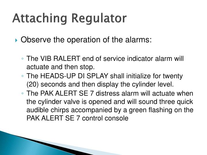 Attaching Regulator