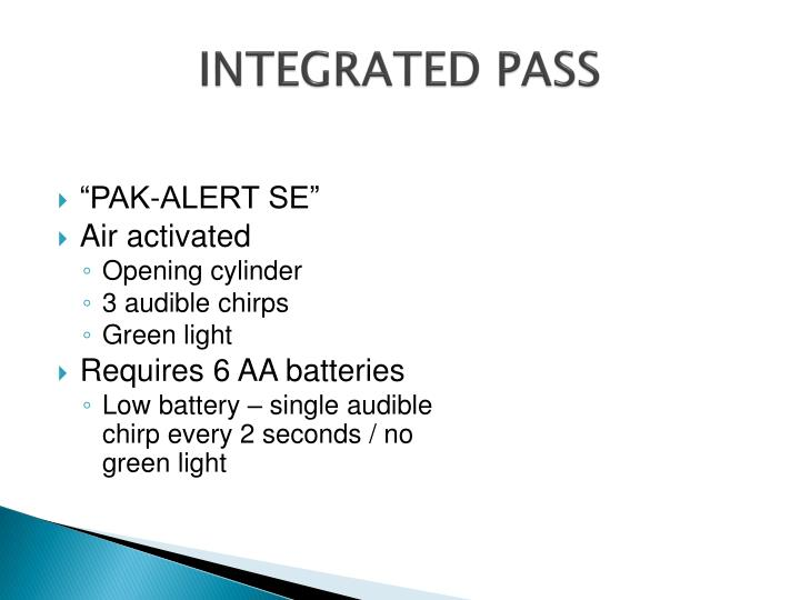 INTEGRATED PASS