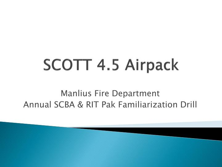 Scott 4 5 airpack
