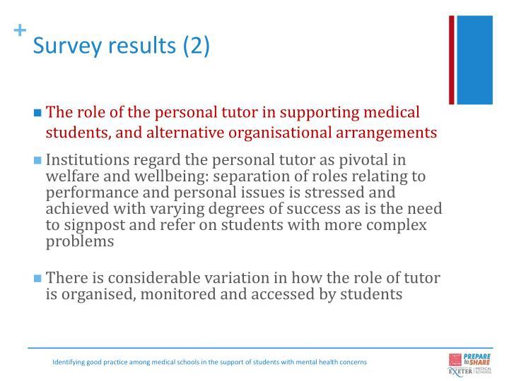 Survey results (2)