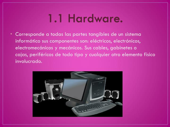 1.1 Hardware.