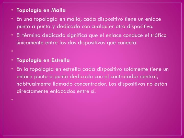 Topología en Malla