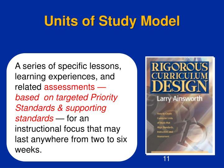 Units of Study Model