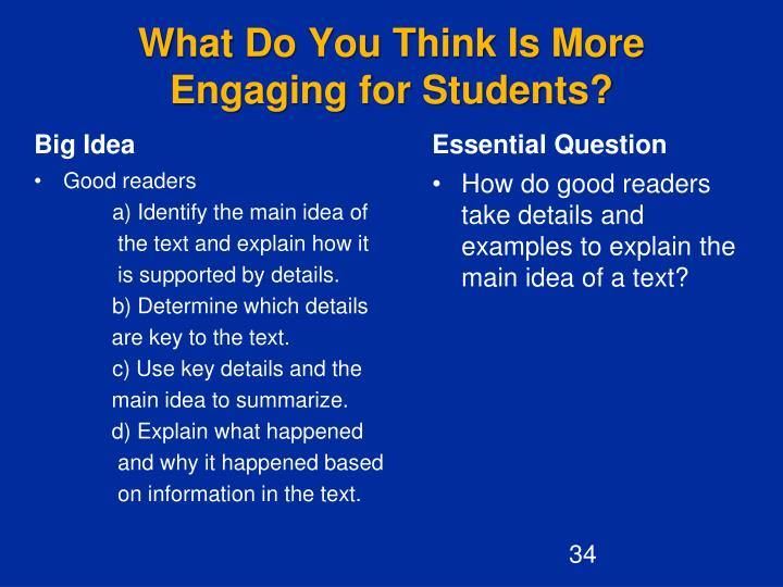 What Do You Think Is More Engaging for Students?