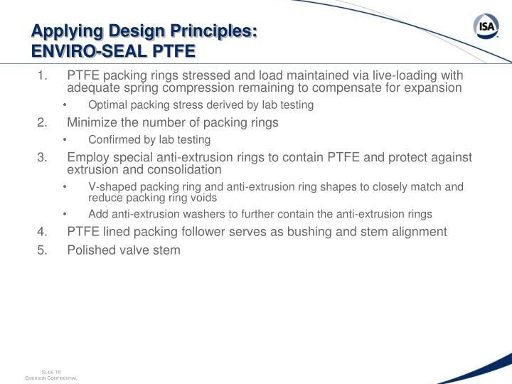 Applying Design Principles: