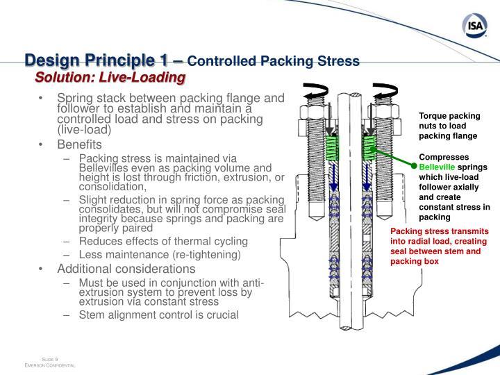 Design Principle 1 –