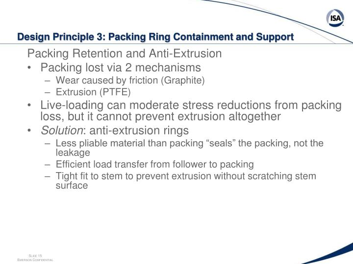 Packing Retention and Anti-Extrusion