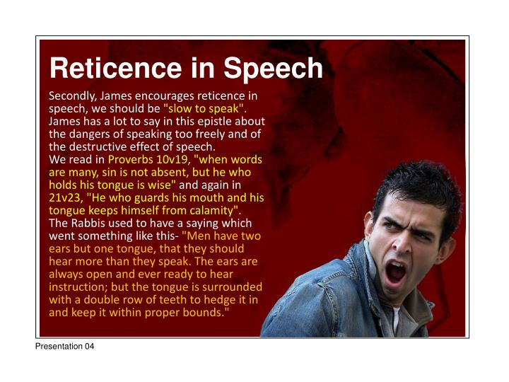 Reticence in Speech