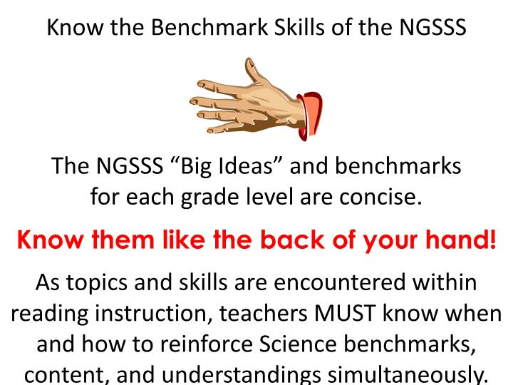 Know the Benchmark Skills of the NGSSS