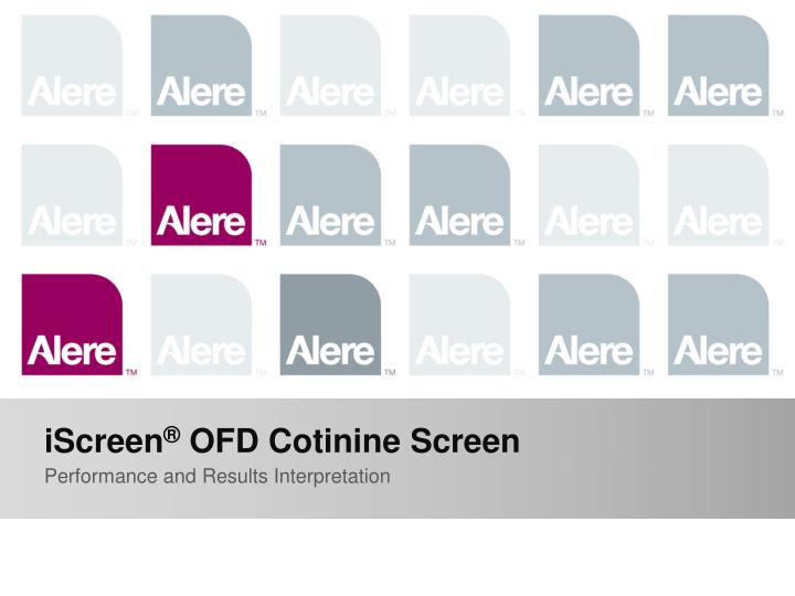 Iscreen ofd cotinine screen