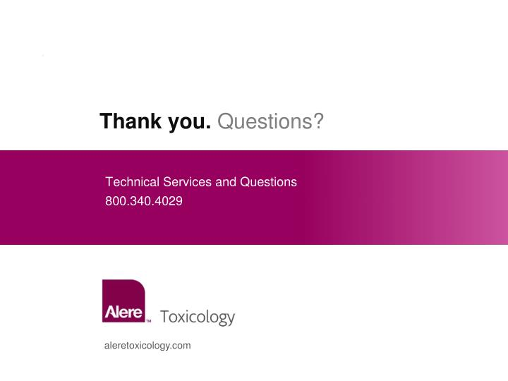 Technical Services and Questions