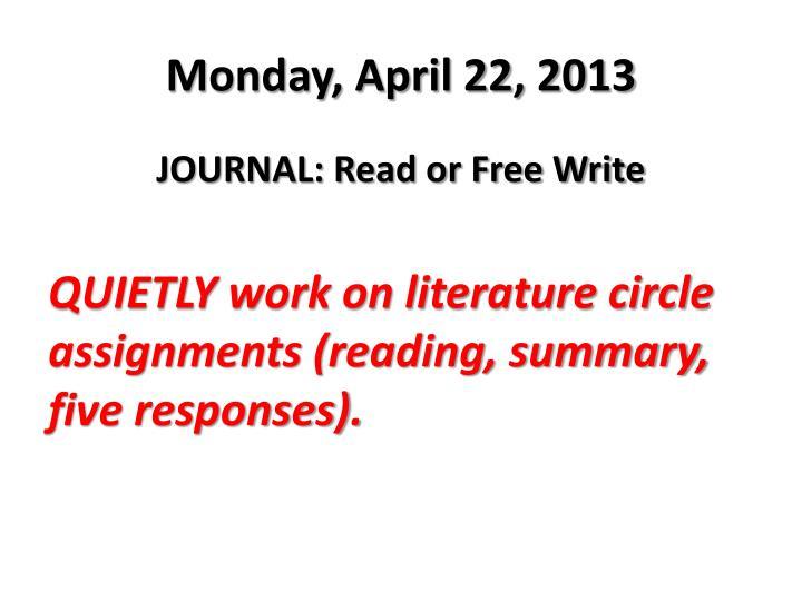 Monday, April 22, 2013