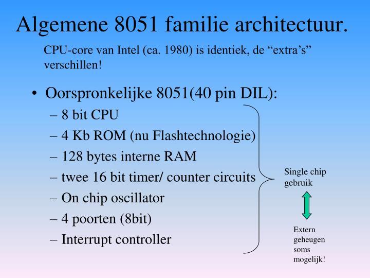 Algemene 8051 familie architectuur.