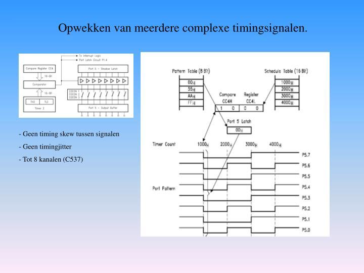Opwekken van meerdere complexe timingsignalen.