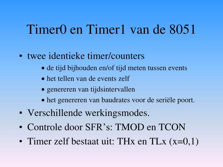 Timer0 en Timer1 van de 8051