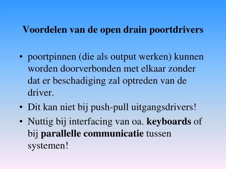 Voordelen van de open drain poortdrivers