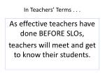 in teachers terms