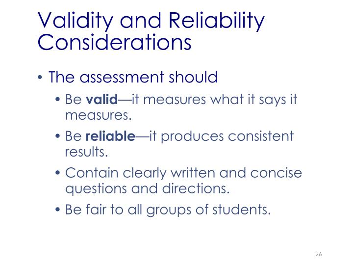 Validity and Reliability Considerations