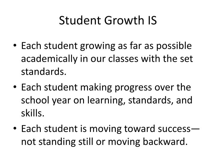 Student Growth IS