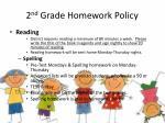 2 nd grade homework policy