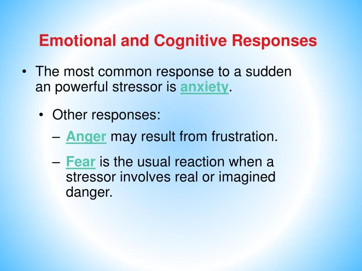 Emotional and Cognitive