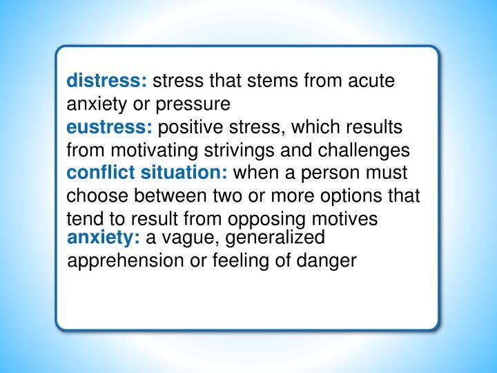 distress: