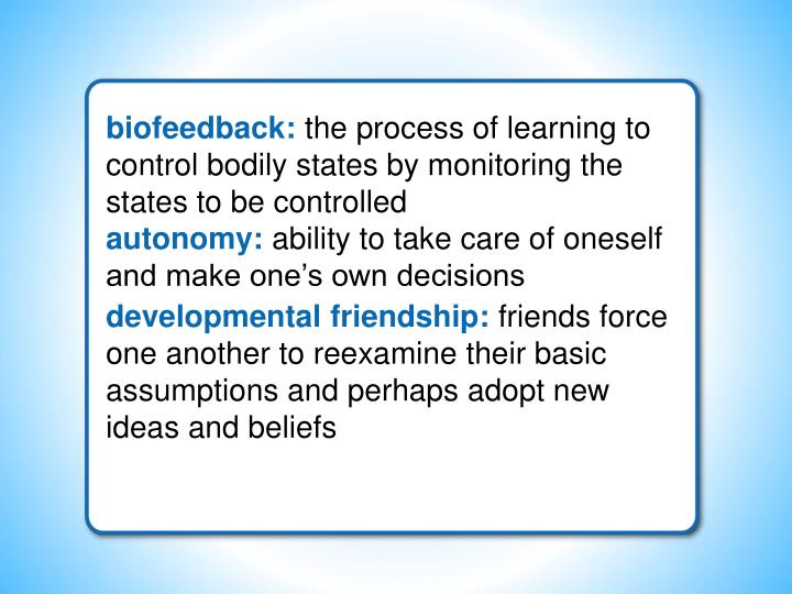 biofeedback: