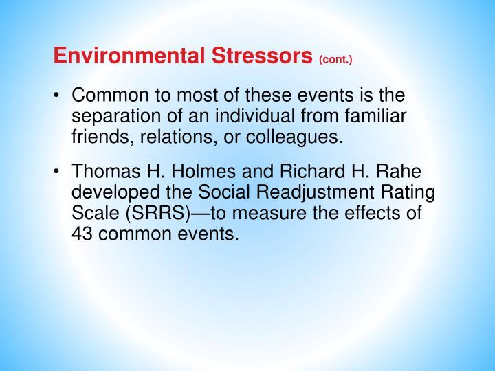 Environmental Stressors