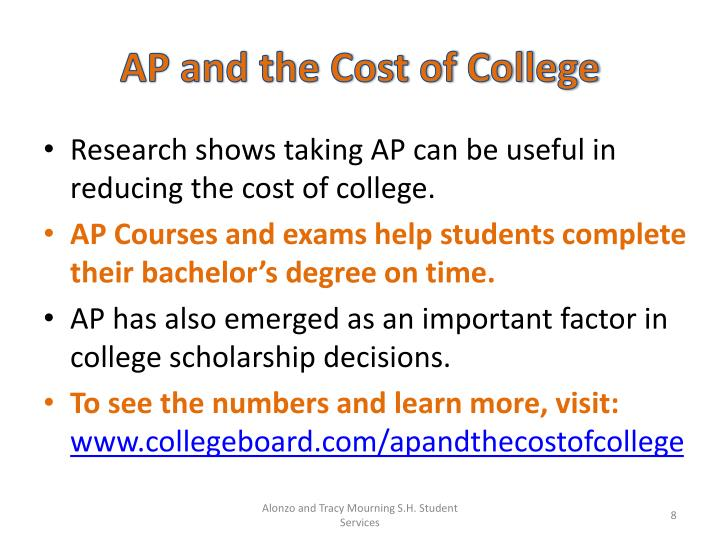 AP and the Cost of College