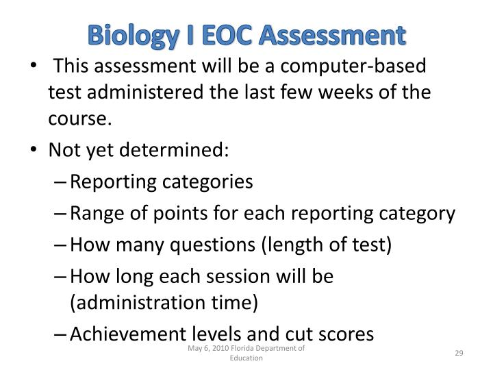 Biology I EOC Assessment
