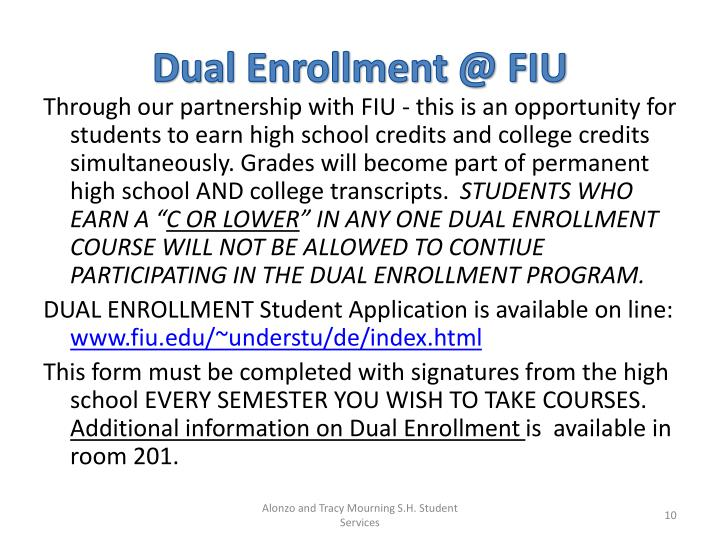 Dual Enrollment @ FIU