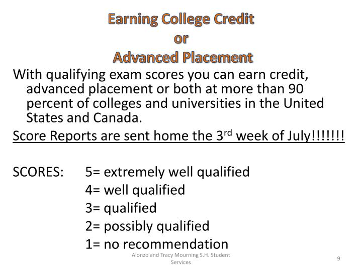 Earning College Credit