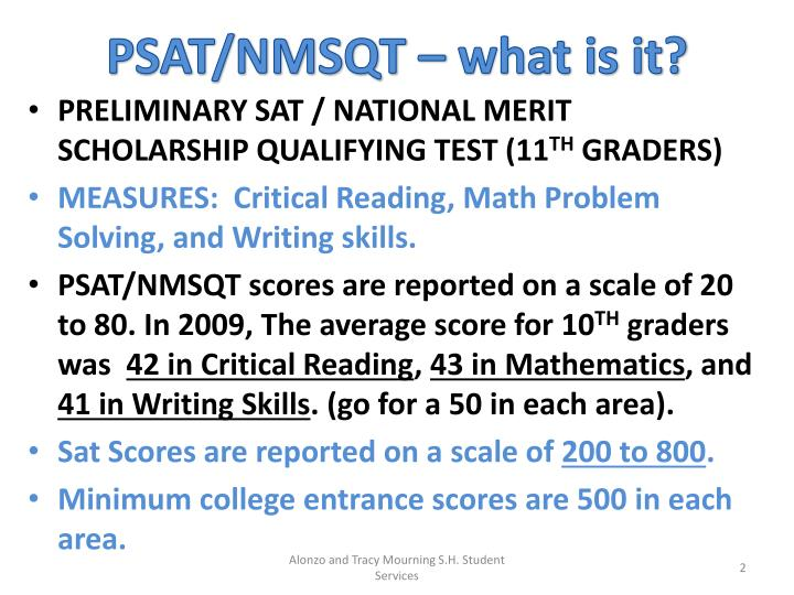 PSAT/NMSQT – what is it?