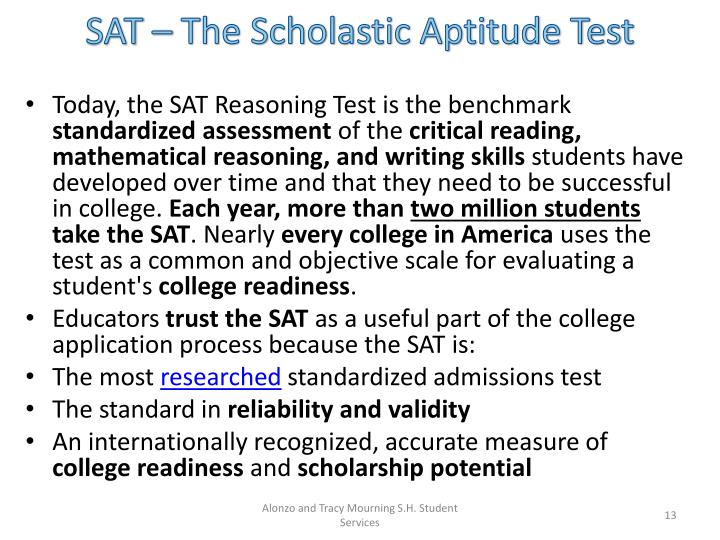 SAT – The Scholastic Aptitude Test