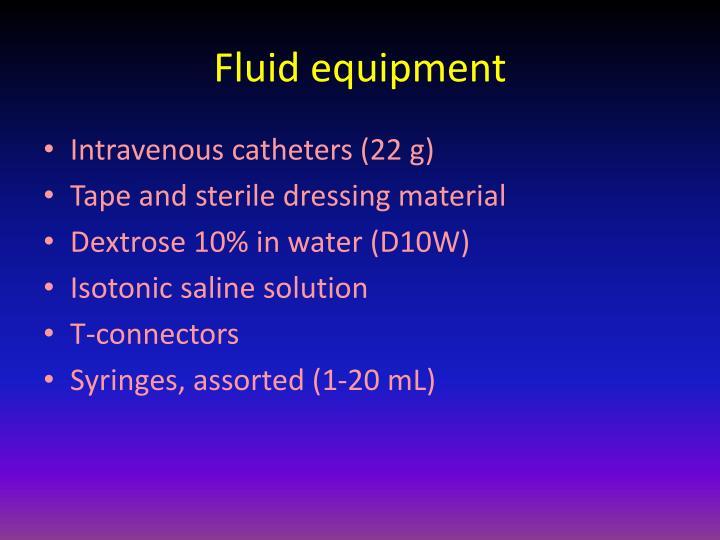 Fluid equipment