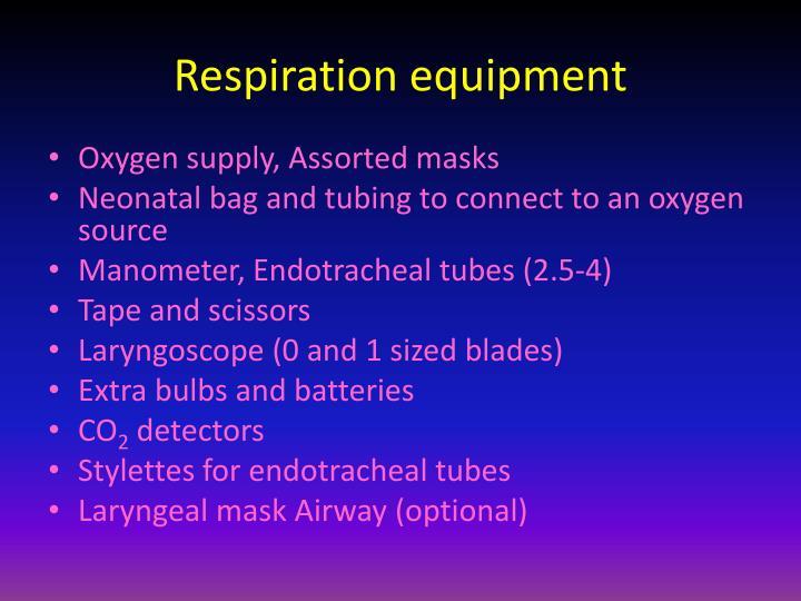 Respiration equipment