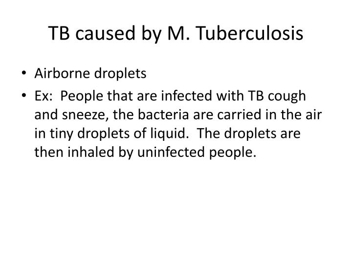 Tb caused by m tuberculosis